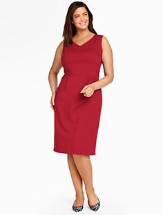 Talbots - Peek-a-boo Back Ponte Sheath | | Woman Discover your new look at Talbots. Shop our Peek-a-boo Back Ponte Sheath for stylish clothing and accessories with a modern twist at Talbots