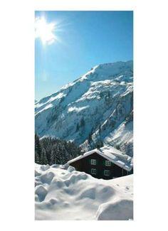Berghütte Motivdruck Papier