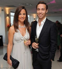 Healthy living: Pippa Middleton shares a tipple with her brother James Middleton - and say...