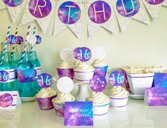 Take your childs birthday out of this world with this ULTIMATE galaxy party themed package! This listing includes everything you need to throw the best galaxy party ever! ★★★★★★★★★★★★★★★★★★★★★★★★★★★★★★★★★★★ Ultimate Galaxy Party Package - Purple, Blue & Pink Color Scheme. You will receive a link to a Dropbox Folder immediately after purchase via INSTANT DOWNLOAD. All you need to do is download, edit, print, cut, and party! Edit using Adobe Reader. Get it for FREE here: https:/&#x...