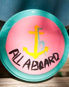 Neon Pink & Turquoise All Aboard Mini Beach Art by SunSoakedDays, all aboard for spring and summer