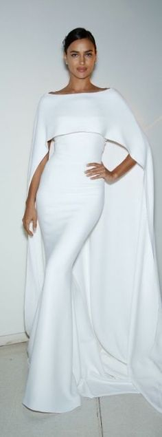 white-cape-evening-gown