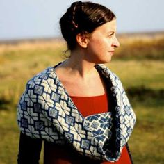 Funchal Moebius designed by Kate Davies with Renaissance Dyeing Poll Dorset naturally dyed organic wool
