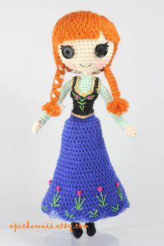 Princess Anna from Disney's Frozen Amigurumi Doll by Npantz22.deviantart.com on @deviantART