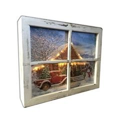 Old Window Crafts, Old Window Projects, Diy Shadow Box, Shadow Box Frames, Shadow Box Memory, Window Art, Window Frames, Window Ideas, Painted Window Panes