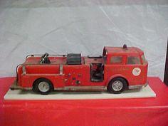 Antique Texaco fire truck.