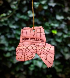 New Orleans Wood Holiday Ornament