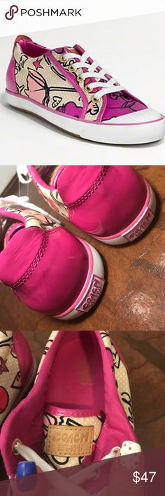 Coach Barrett Poppy Pink Sneakers NWOB Coach Barrett Poppy Pink Sneakers NWOB • authentic Coach footwear • no trades Coach Shoes Sneakers