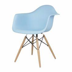 <b>Eames Style DAW Chair, Blue</b>