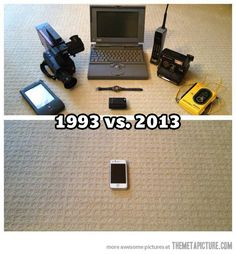 1993 vs. 2013… THIS is why I should break down and buy that danged smart phone.