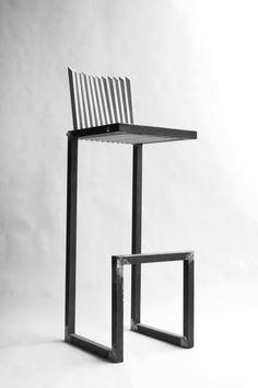 WHY: This chair is top heavy and looks as if it could tip over easily. DEF: Forms can be unstable or topheavy, these are easy to tip over or appear that way. Compact Table And Chairs, Dining Room Table Chairs, Cafe Chairs, Living Room Chairs, Design Furniture, Metal Furniture, Chair Design, Modern Furniture, Contemporary Armchair