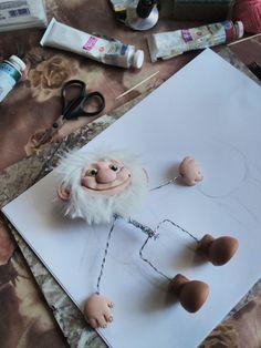 1 million+ Stunning Free Images to Use Anywhere Easy Polymer Clay, Polymer Clay Fairy, Yarn Dolls, Clay Dolls, Sculpture Clay, Soft Sculpture, Sculpting Tutorials, Xmas Elf, Kobold