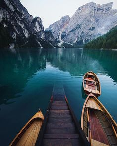Lago di Braies in South Tyrol, Italy. @marcobaeni  Captured a breathtaking view of the lake surrounded by the mountains! Bucket list. #travelingsavant