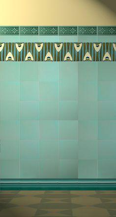 Art Nouveau tiles #bathroom