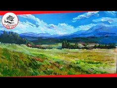 Today we paint a misty forest landscape and a small river in fewer than 10 minutes! This is a real time acrylic landscape painting tutorial. Acrylic Landscape, Watercolor Landscape, Landscape Art, Landscape Paintings, Landscape Pictures, Acrylic Painting For Beginners, Acrylic Painting Techniques, Painting Videos, Acrylic Paintings