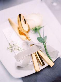 Gold Silverware: http://www.stylemepretty.com/destination-weddings/2015/06/23/bali-wedding-inspiration/ | Photography: Le Secret D'Audrey - http://www.lesecretdaudrey.com/: