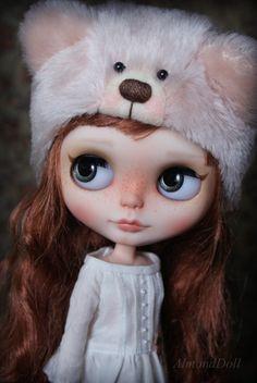 OOAK Custom Blythe doll hand painted art doll by by AlmondDoll, €800.00