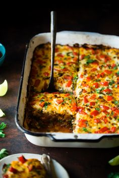 Mexican Zucchini Lasagna - This lasagna has all the cheesy, saucy taste but…