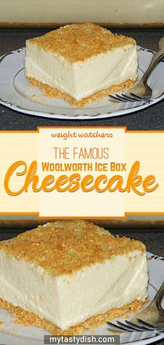 The Famous Woolworth Ice Box Cheesecake Light and refreshing icebox dessert made famous by Woolworth's lunch counter back in the but now, with this recipe, you can make Woolworth's Famous Icebox Cheesecake in the comfort Icebox Desserts, No Bake Desserts, Easy Desserts, Delicious Desserts, Dessert Recipes, Yummy Food, Icebox Cake Recipes, Delicious Dishes, Keto Desserts
