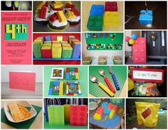 A collection of clever and cute Lego birthday parties. Tons of fun ideas!