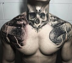 Skull And Snake Tattoo More