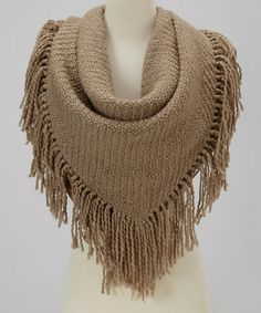 Look what I found on #zulily! Beige Knit Scarf by Reborn Collection #zulilyfinds