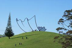 Скульптура в Новой Зеландии.