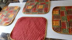 REPIN OR CLICK ON BUSINESS BELOW:  PLACEMATS  4 Plus a Table Runner  Flowers on by DonnaleesTreasures, $55.00
