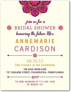 Bridal Shower Postcards