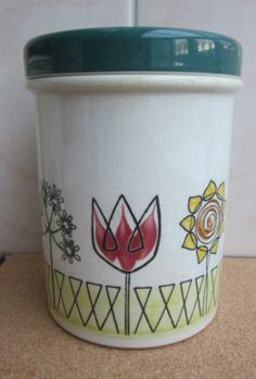 Fleur Lidded Storage Jar Lid Storage, Gothenburg, Planter Pots, Jar, Invitations, Design, Flowers, Save The Date Invitations, Glass