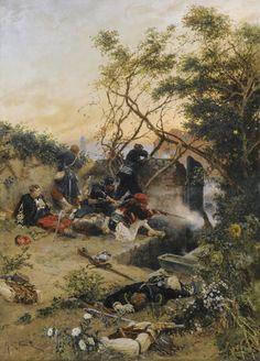 Exchange of fire, Franco-Prussian War