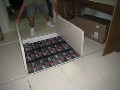 Battery Bank w/Solar Set Up: Under floor storage -  To connect with us, and our community of people from Australia and around the world, learning how to live large in small places, visit us at www.Facebook.com/TinyHousesAustralia or at www.TinyHousesAustralia.com