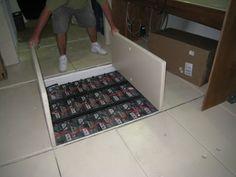 Battery Bank w/Solar Set Up: Under floor storage
