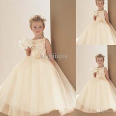 Brand New Formal A-Line Scoop Neck Satin Top Satin Applique Tulle Skirt Dropshipping Custom Made Floor Length Ivory Lace Flower Girl Dresses from Chenguang2015,$78.54 | DHgate.com