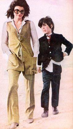 Jackie and JFK Jr 1970s