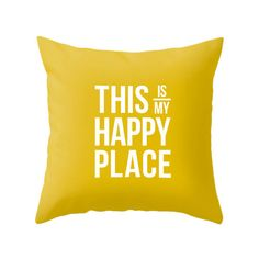 This is my happy place throw pillow This is my happy place cushion grey typography pillow typography cushion words cushion words pillow