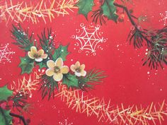 Vintage Christmas Wrapping Paper  Deck the by TheGOOSEandTheHOUND