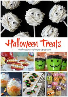 The perfect treats and food for Halloween found on Walking on Sunshine Recipes.