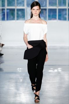 Zero + Maria Cornejo (Spring-Summer 2015) R-T-W collection at New York Fashion Week  #AlexiaBellini #AlishaJudge #AlyoshaKovalyova #BrunaLudtke #DariaPiotrowiak #DashaGold #ElizaHartmann #FridaMunting #JanicaCompte #LeomieAnderson #LeticiaOrchanheski #LizaSchwab #MarineVanOutryve #NewYork #RoxanneSanderson #SarahTaylor #SigneRasmussen #SissiHou #TanyaKatysheva #TianYi #ViolettaRogacka #Zero+MariaCornejo #ZoeColivas #ZuriTibby