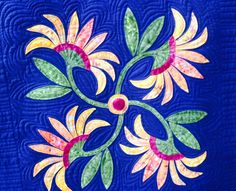One of the 3 blocks I appliquéd for our Donation Quilt 2016