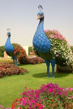 Topiary Miracle Garden w Dubaju Topiary Garden, Garden Art, Garden Design, Big Garden, Small Cottage Garden Ideas, Amazing Gardens, Beautiful Gardens, Dubai Garden, Miracle Garden