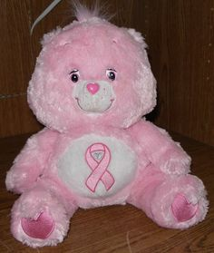 "Care Bears Spec Ed 13"" PINK BREAST CANCER AWARENESS Soft Floppy Bear Pink Power"