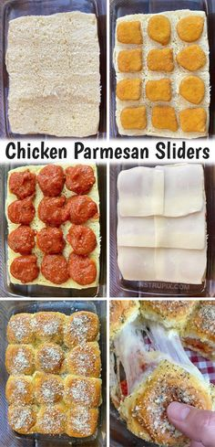 Chicken Parmesan Sliders Recipe, Breaded Chicken Tenders, Easy Chicken Parmesan, Chicken Sliders, Baked Chicken, Frozen Chicken Nuggets, Chicken Recipes, Easy Dinners For Two, Cheap Dinners