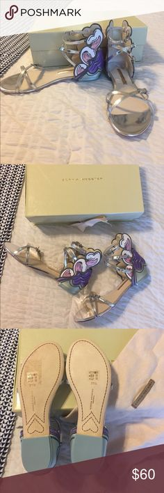 573d0827065e0 Sophia Webster Aurora Temptest Orchid Sandal Beautiful leather and satin  sandals. Never worn! silver