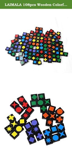 LAIMALA 108pcs Wooden Colorful Painted Buttoned Qwirkle Board Games. This game is designed for ages six and up and for two to four players.;This is Board Game is Fantastic, smart and it is a Game for the whole family;This is a fun game that encourages strategic thinking,Scoring can be a little bit confusing but as long as you are consistent with how you score;Just Mix, Match, Strategic thinking, Score, and Win;108pcs. each piece size is 3*3*1cm.