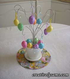 Easter Tree~ And easy tutorial to turn a plain terra cotta pot into a centerpiece for your Easter Table.  Happy Creating everyone!