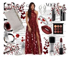 """""""Bez naslova #143"""" by amraa-145 ❤ liked on Polyvore featuring Manolo Blahnik, Jimmy Choo, Apples & Figs, Yeprem, Lime Crime and MAC Cosmetics"""