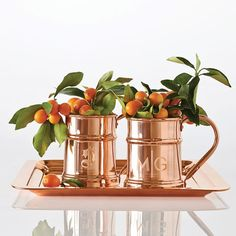Shop Mark and Graham for gifts for entertaining. Personalized barware and glassware make a bold statement in your home bar. Copper Moscow Mule Mugs, Copper Mugs, Copper Table, Personalised Gifts Unique, Unique Gifts For Him, Puerto Rico, Copper Decor, Warm Home Decor, Mark And Graham