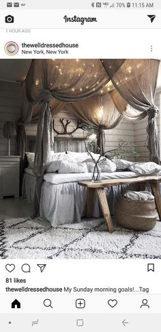 41 Glamorous Canopy Beds Ideas For Romantic Bedroom. Glamorous Canopy Beds Ideas For Romantic Bedroom 37 Ever since I was a child, I have adored canopy beds. Growing up, my parents had a great wrought iron […] Dream Rooms, Dream Bedroom, Home Decor Bedroom, White Bedroom, Pretty Bedroom, Bedroom Bed, Fantasy Bedroom, Dark Cozy Bedroom, Farm Bedroom