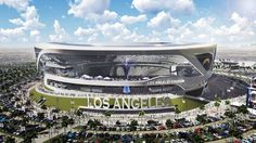 This artist's rendering provided by Carson2gether shows the exterior of a newly revised plan for a proposed stadium that would house both the Chargers and the Raiders NFL football teams, here in Chargers' home game configuration, in Carson, Calif. New designs for the proposed NFL stadium in the Los Angeles area include simulated lightning bolts for the San Diego Chargers and an eternal flame honoring late Oakland Raiders owner Al Davis. The thoroughly revamped stadium renderings for the $1.7…